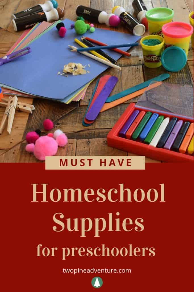 Must-Have Preschool Homeschool Supplies