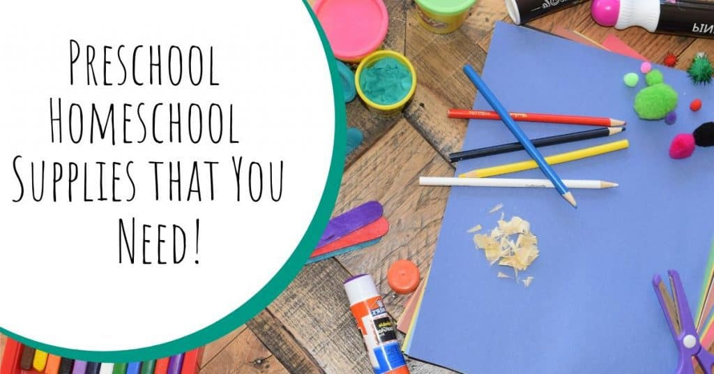 Preschool Homeschool Supplies