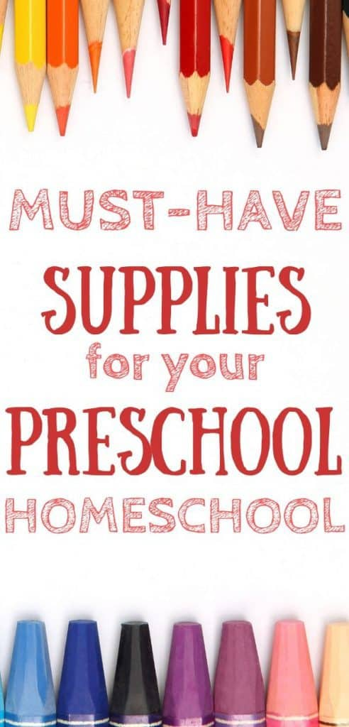 Image: Colored pencils and crayons Image: must-have supplies for your preschool homeschool