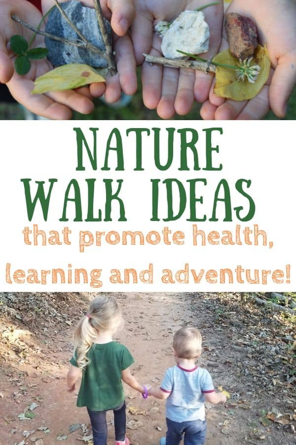 Kids hands holding rocks, flowers and leaves. Toddler boy and girl holding hands while on a nature walk