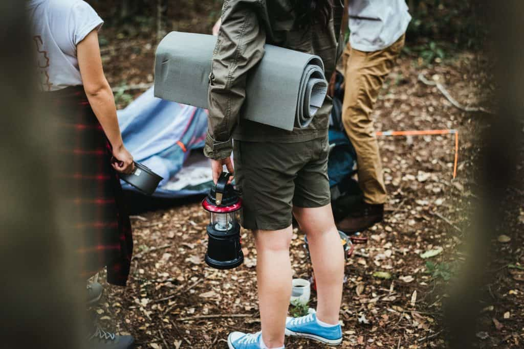 Necessities to pack when camping with kids.