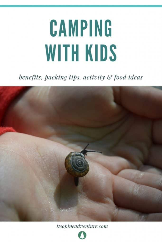 Camping with kids-benefits, packing tips, activity & food ideas
