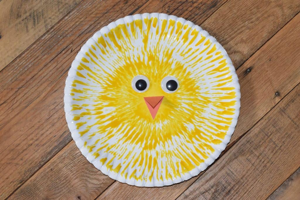 paper plate chick craft for preschoolers