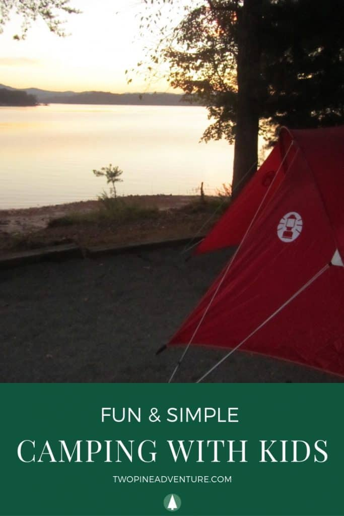 Camping with kids - tent, campsite