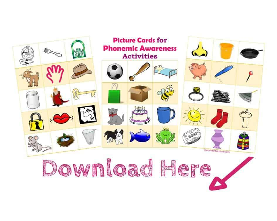 Picture Cards for Phonemic Awareness Activities. Free Download