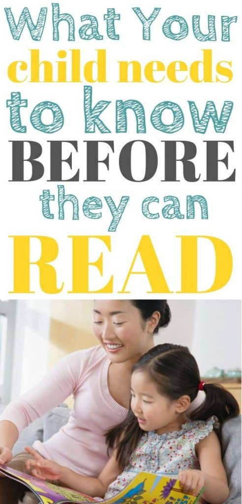 Teaching your child to read - phonemic awareness.
