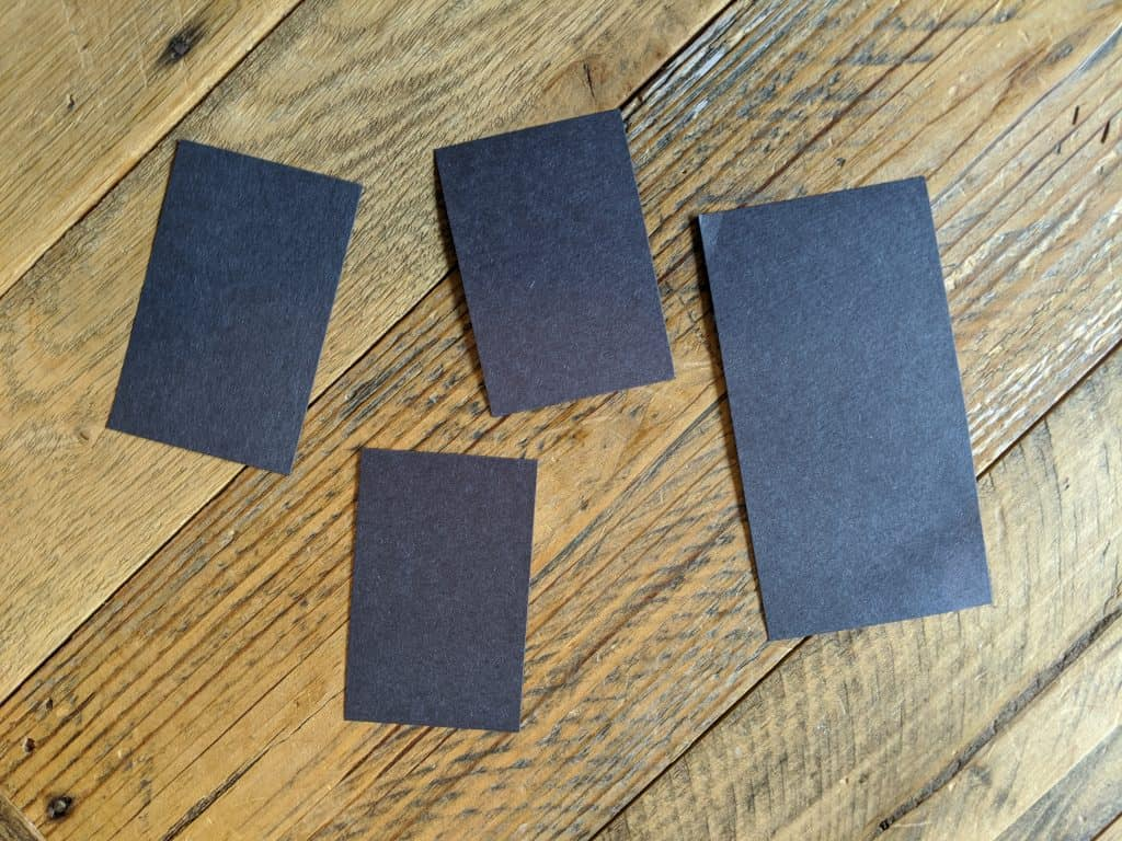 Black rectangles for a kids' craft