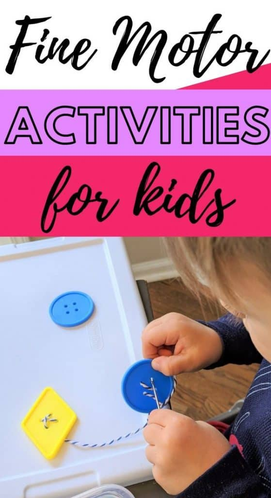 Fine motor activities for PreK and Kindergarten.