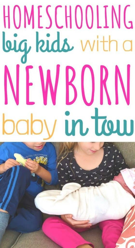 Homeschooling with a newborn baby