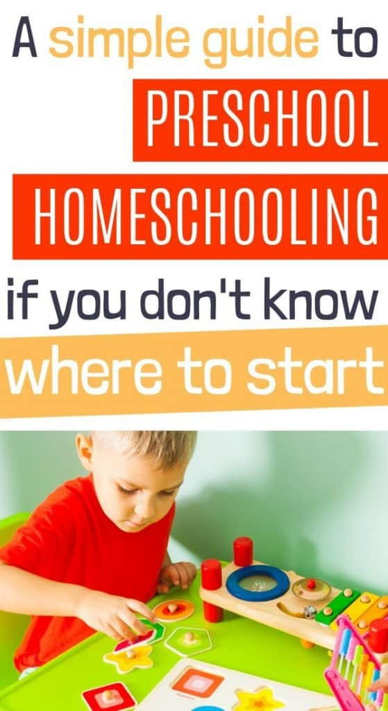 Preschool homeschool for 3 year olds
