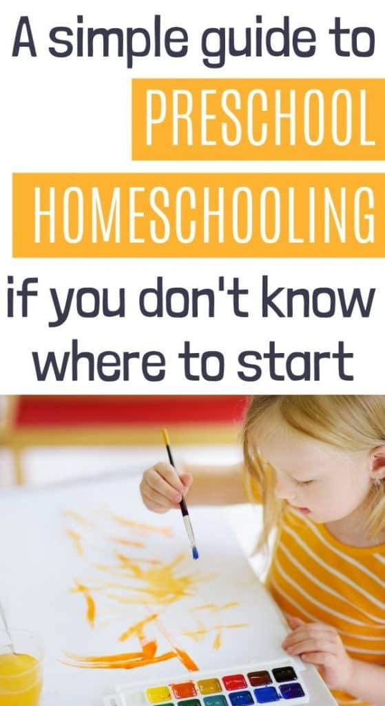 Preschool homeschool for 3 year olds.