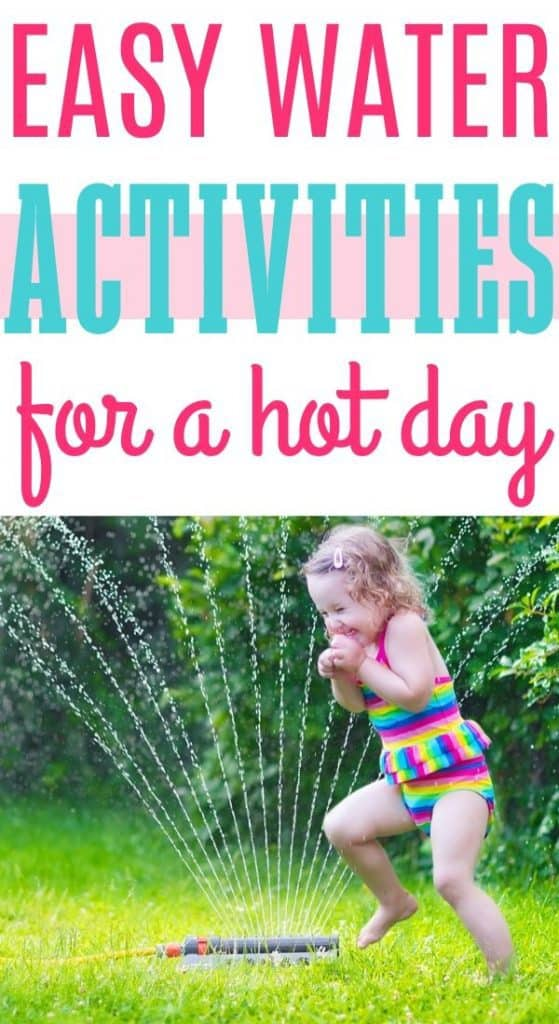 Hot day water activities for kids