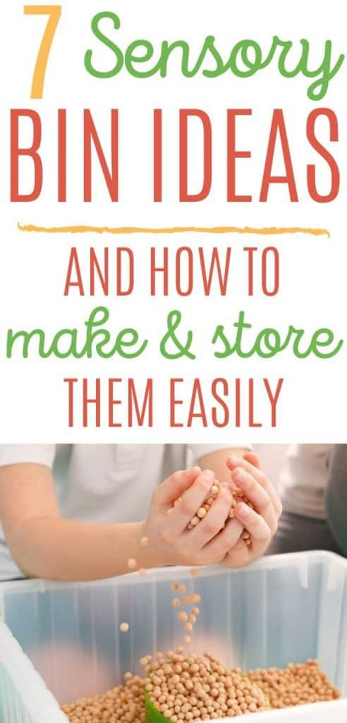 Sensory bin ideas for toddlers and preschoolers