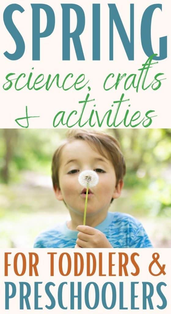 Spring crafts and activities for toddlers