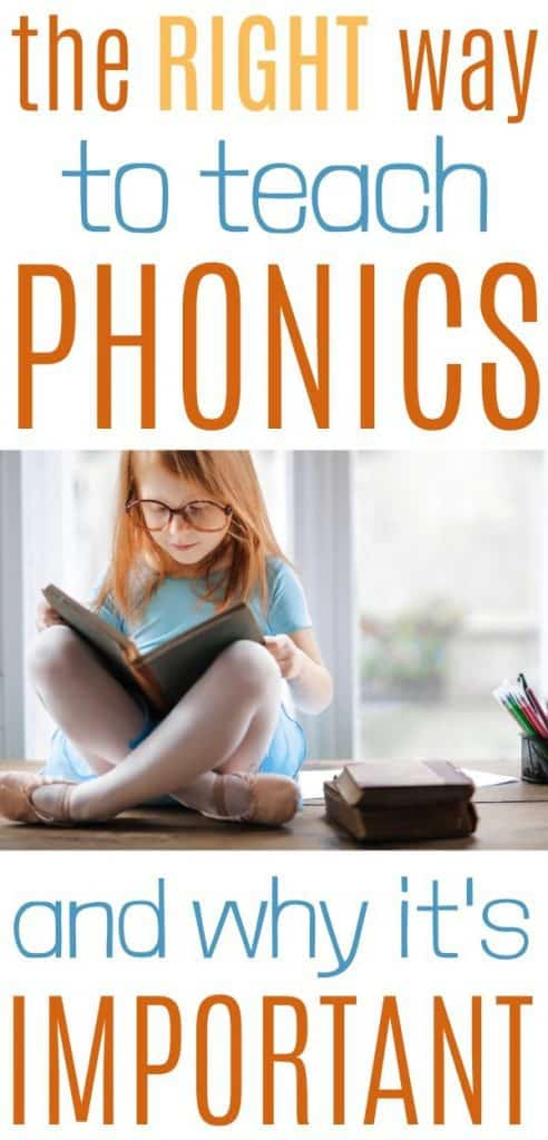 Teaching your child to read with phonics