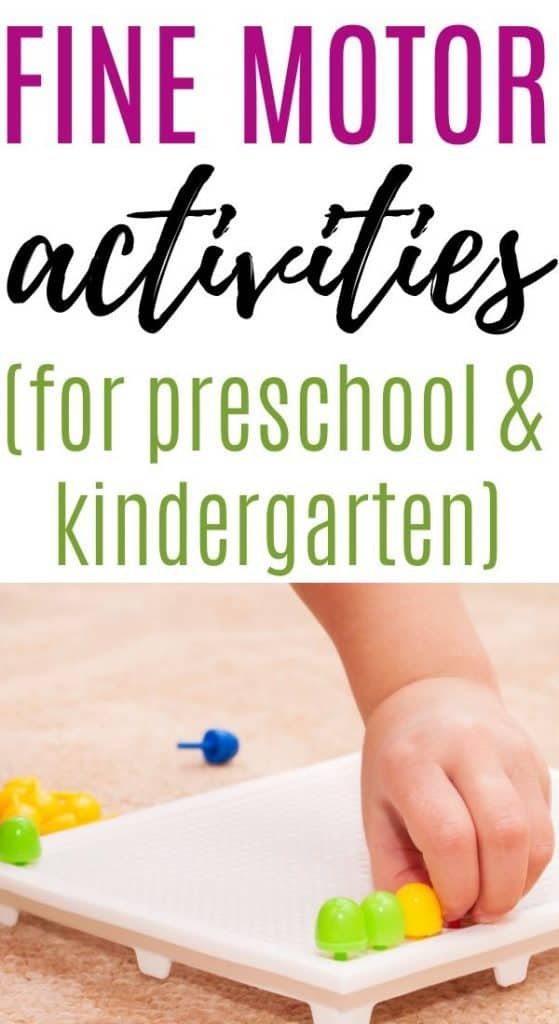 Fine motor activities for kindergarten