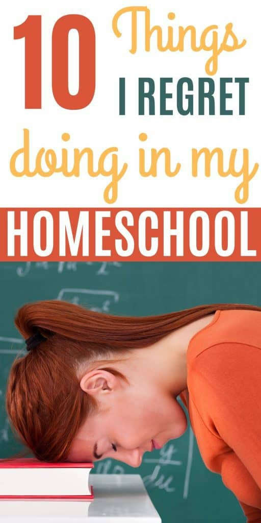 Mom regretting the homeschool mistakes she's made