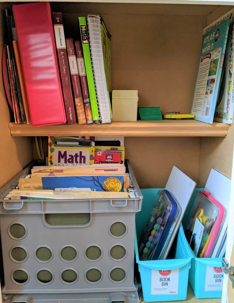 Homeschooling without school room organization idea