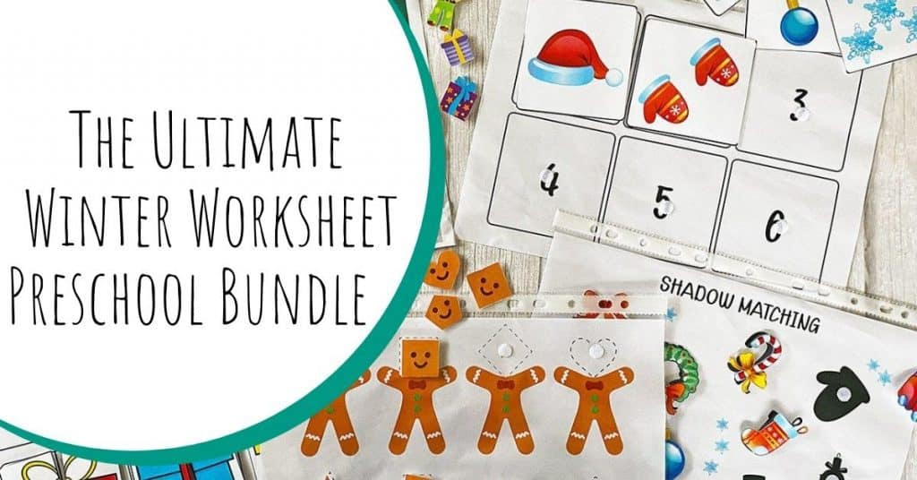 Ultimate Winter Worksheets Preschool Bundle