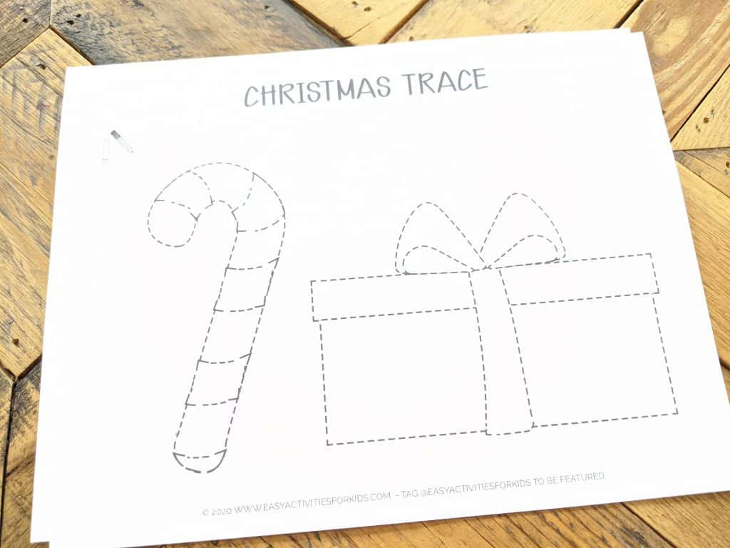 Writing Practice for 4 year olds - trace the picture
