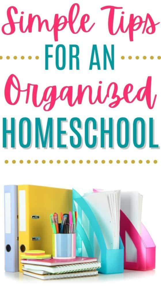 Organized Homeschool: Binders, planners, pen organizer, notebooks